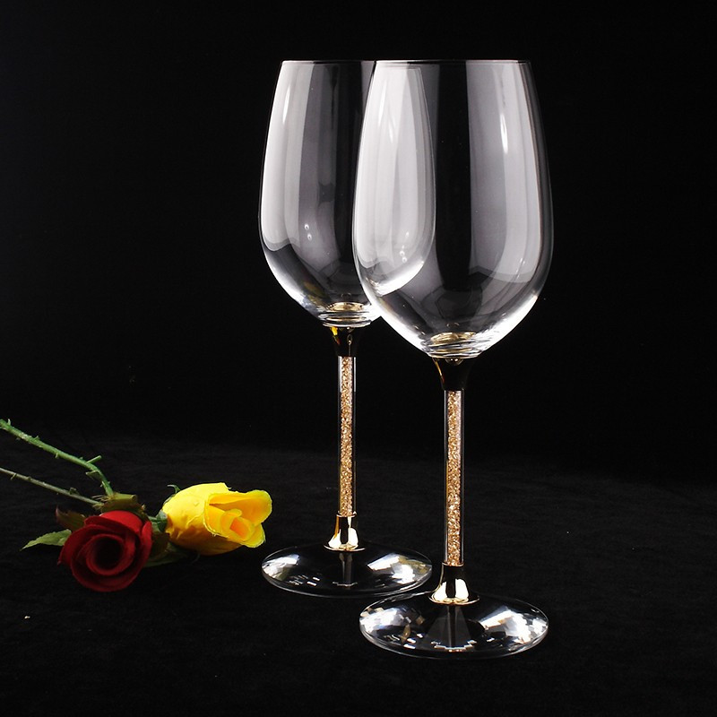 Aliexpress Com Buy 1440pcs Gold Bottom Crystal Clear: 2019 Hot Sale Clear Crystal 412ml Wine Glasses With Gold