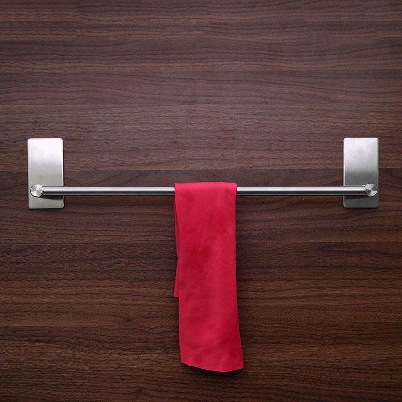 1 PZ A Parete In Acciaio Inox Bagno Porta Asciugamani Mensola Forza Adesiva Mensola del Bagno Pendente Igienica Rotolo di Carta Appeso