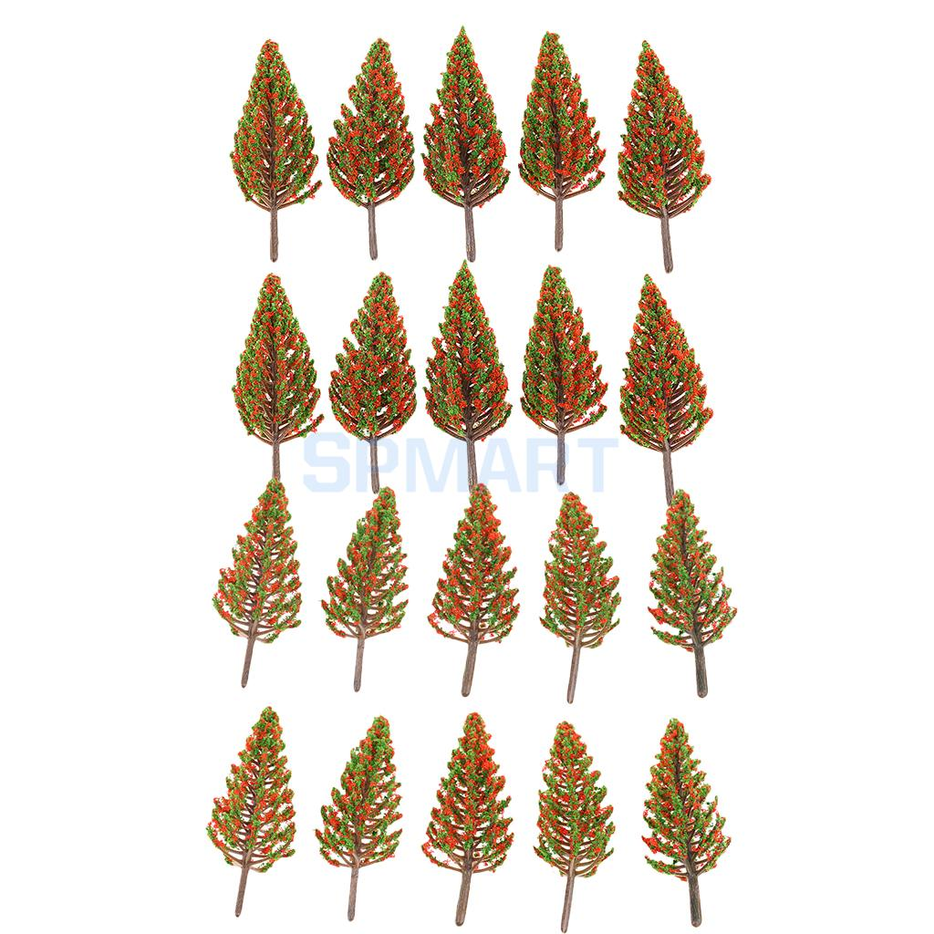 10Pcs/Pack Tree Models HO OO for Train Railway Park Garden Scenery Building Props