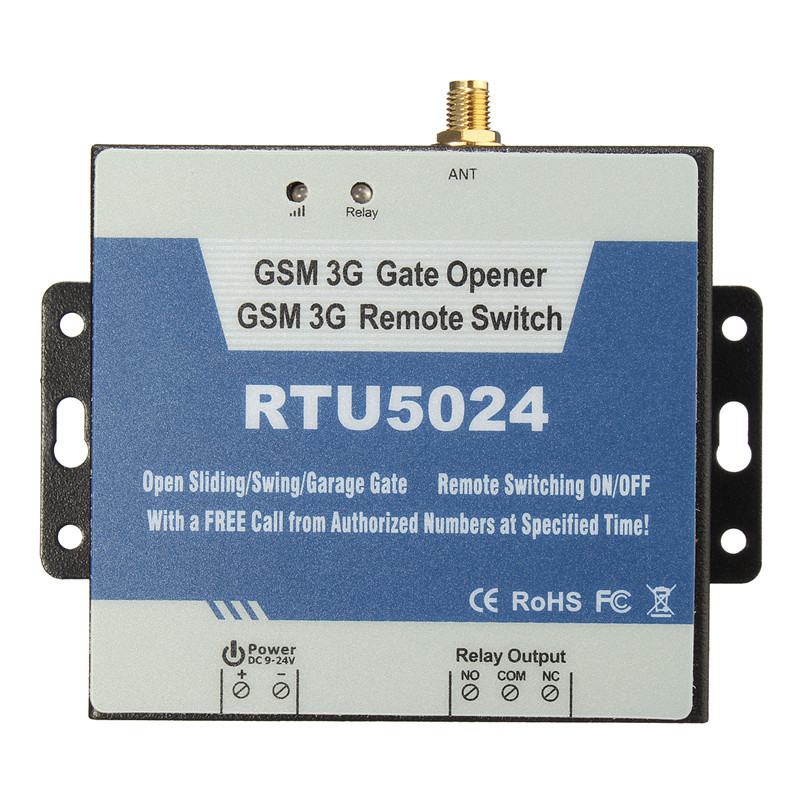 Купить 3G 4G Gate Opener Remote Controller Relay SMS Call Swing Gate Garage Door Opener Switch by Free Phone Call RTU5024 в Москве и СПБ с доставкой недорого
