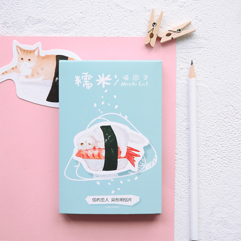 30sheets/LOT Kawaii Mochi Cat Heteromorphism Postcard /Greeting Card/Wish Card/Christmas And New Year Gifts