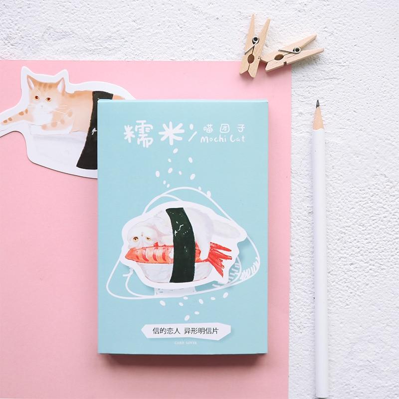 30sheets/LOT Kawaii Mochi Cat Heteromorphism Postcard /Greeting Card/Wish Card/Christmas And New Year Gifts