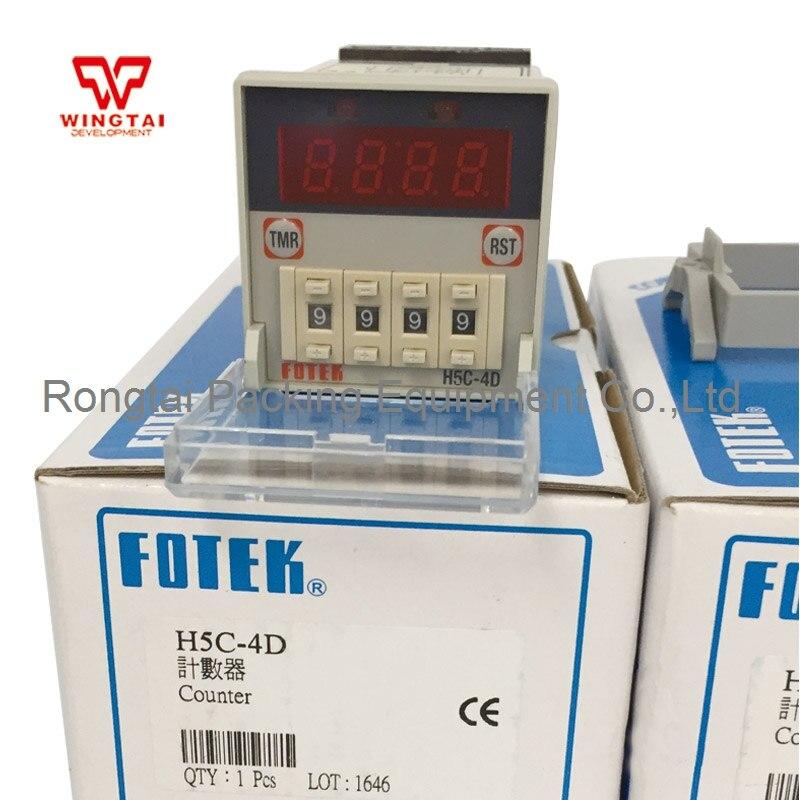 Taiwan Original Fotek H5C-4D Counter Meter taiwan original fotek hc series din 72 72 digital preset counter hc 51p