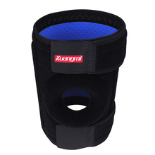 Kuangmi Double Springs Brace Knee Support Sports Safety Adjustable Wraps Bandage Open Patella Pad Basketball Protector 1 PC