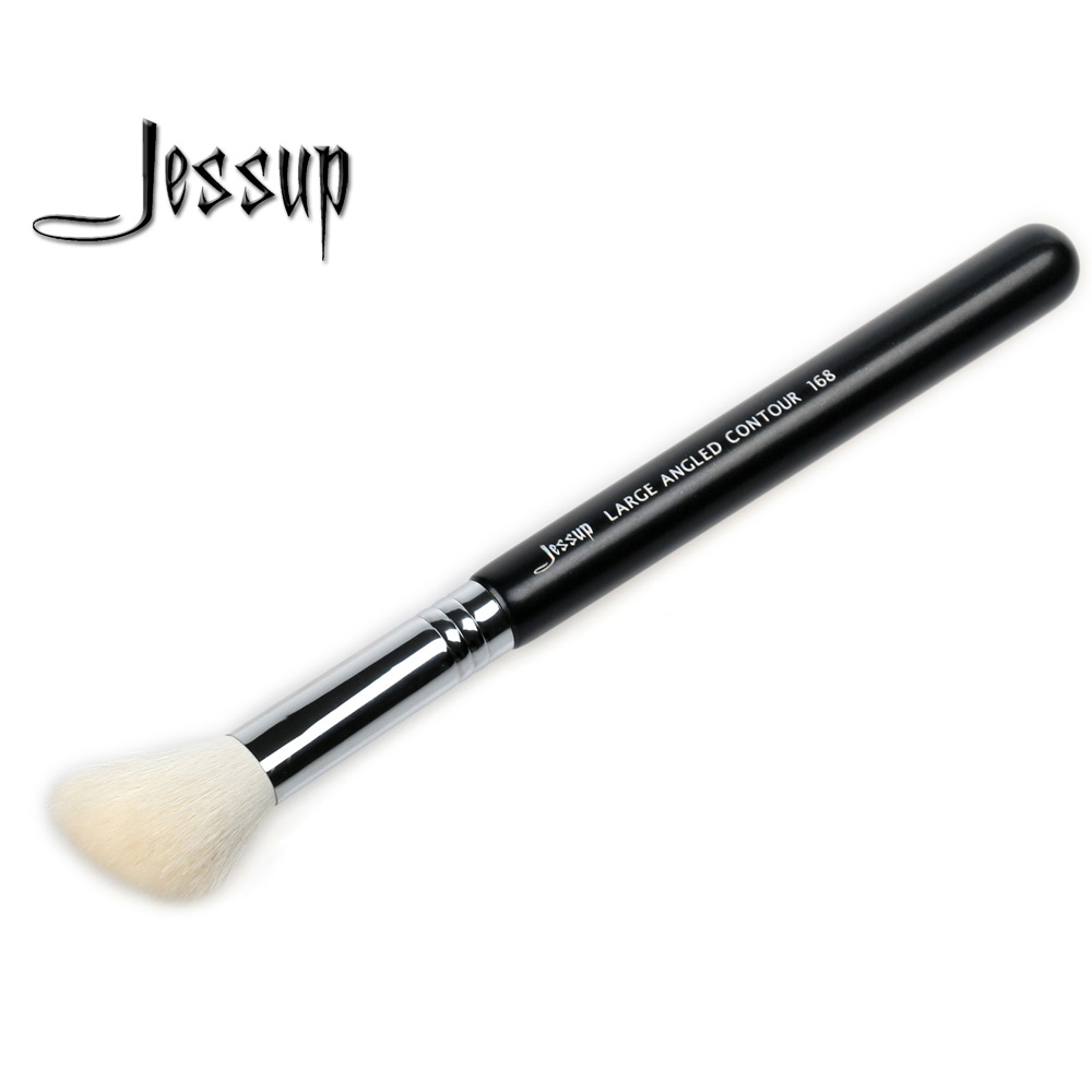 Jessup High Quality Materials Professional Face brush Makeup brushes Tools  Foundation Brushes Large angled contour 168 top quality foundation brush angled makeup brush