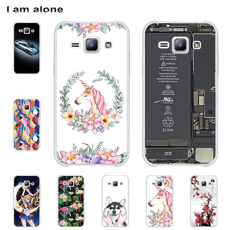 I am alone Phone Cases For <font><b>Samsung</b></font> <font><b>Galaxy</b></font> J1 <font><b>J100</b></font> <font><b>2015</b></font> 4.3 inch Hard Plastic Mobile Cellphone Fashion Color Bags Free Shipping image