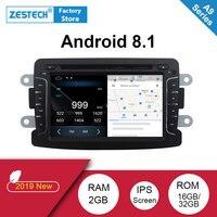 Android 8,1 2 din автомобильное радио, dvd, gps для Renault Duster Dacia Logan Sandero Android автомобильное радио для машины видео dvd мультимедийный плеер