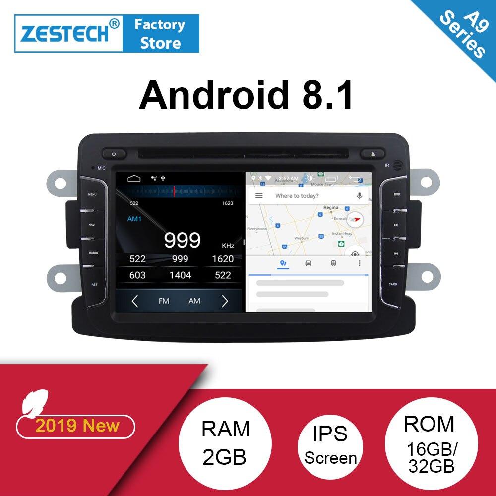 Android 8.1 2 din autoradio gps DVD pour Renault Duster Dacia Logan Sandero Android auto radio voiture vidéo dvd lecteur multimédia