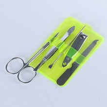 5Pcs/set Carbon Steel Nail Care Clipper Cutter Manicure Kit Cleaning Tool Kit Hand Tools