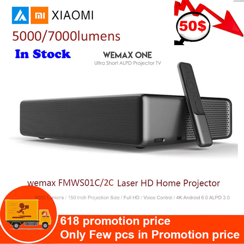 Projecteur Laser Xiao mi mi Android WEMAX ONE PRO Lumens TV 150 pouces 1080 Full HD 4 K Bluetooth 4.0 Wifi 2.4 5 GHz DOLBY DTS 3D