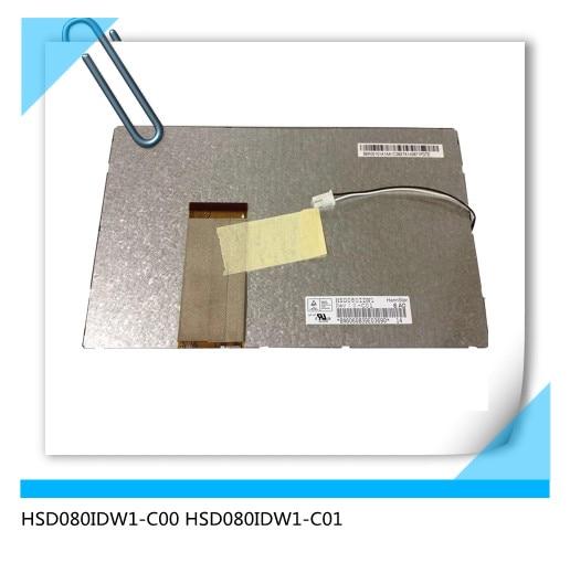HSD080IDW1-C00 HSD080IDW1-C01 8 polegada lcd tela espessura 5mm hsd080idw1 c00 c01