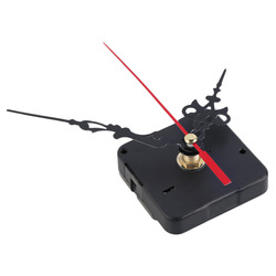 mute mechanism Quartz Clock Movement Kit Spindle Mechanism shaft 12mm with hands Whole and Retail Brand New