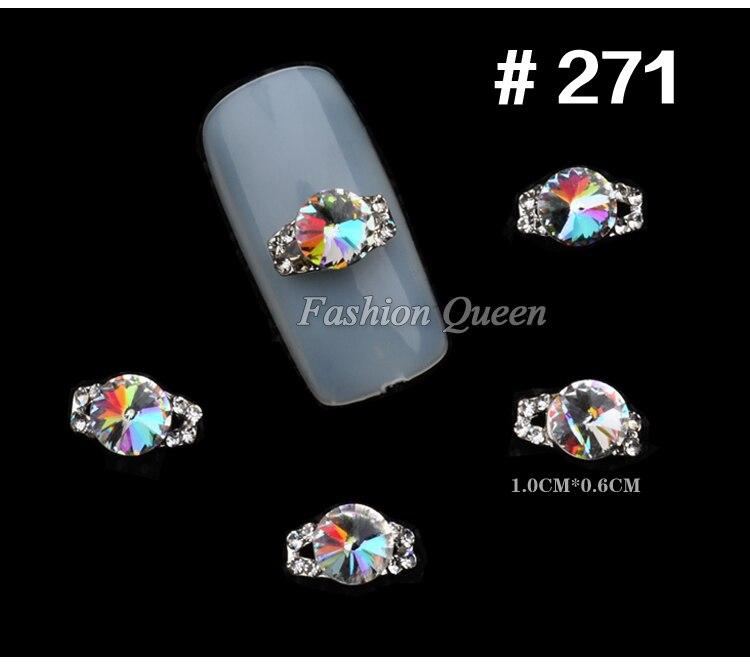5 stks Nieuwe Topkwaliteit Glitter Rhinestone Luxe 3d Legering Nail - Nagel kunst - Foto 2