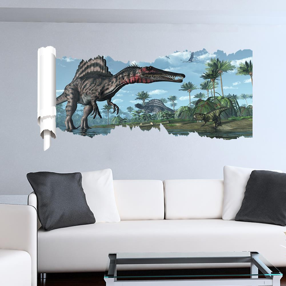 3D World Park Dinosaurs Wall Stickers For Kids Rooms Boy Room Decoration Wall  Decals Poster Wallpaper Children Gift In Wall Stickers From Home U0026 Garden  On ...