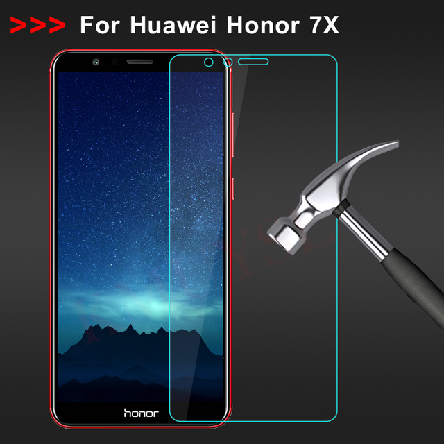 Tempered Glass for Huawei Honor 7X Screen Protector 9H 2.5D Toughened Phone...