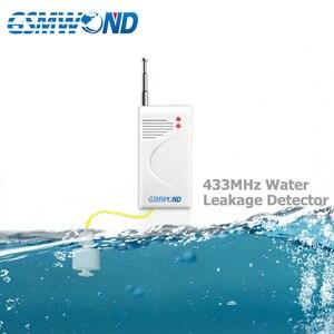 Image 2 - Беспроводной детектор уровня воды, домашняя система охранной сигнализации, водонепроницаемый, 4 шт./лот, 433 МГц