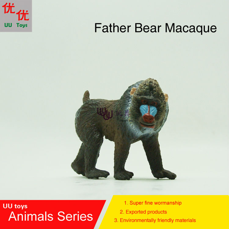 Kids Toys Simulation-Model Animals Bear Educational-Props Macaque Children