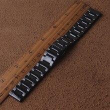 Керамический браслет для часов 14 мм 15 16 мм 17 18 мм 19 мм 20 мм 21 мм 22 мм ремешок для часов черный ремешок наручные часы ремешок не выцветает водостойкий
