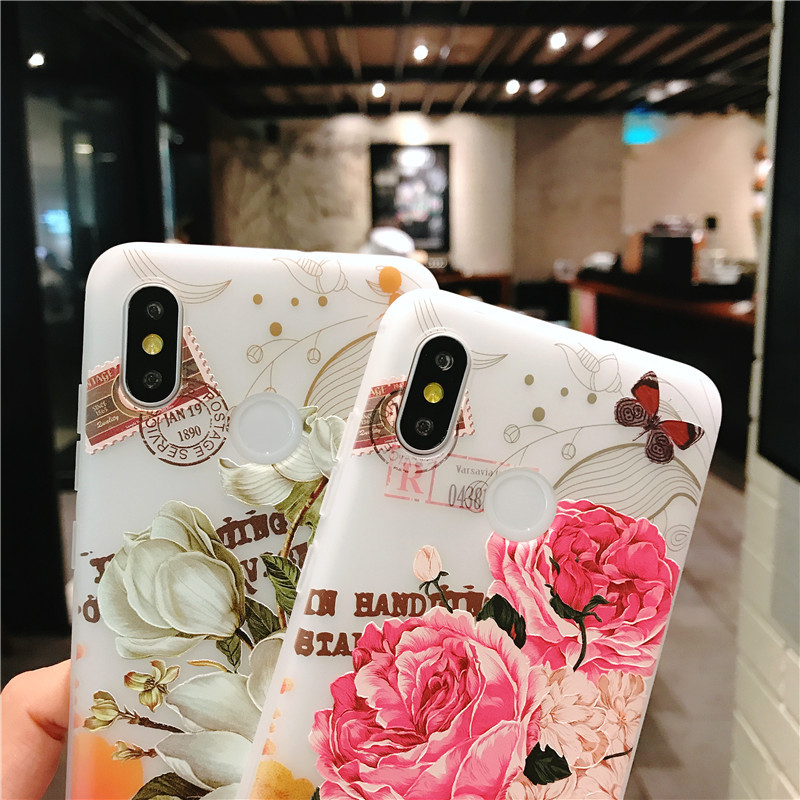 Luxury phone case 3D patterned flower New fashion phone cover for VIVO X7 X9 X20 X21 y85 y83 y79 Rose floral OPPO soft TPU Cover-in Fitted Cases from Cellphones & Telecommunications