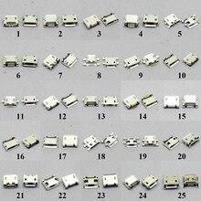 25Models 50 - 2000 PCS Micro USB Jack 5P 5pin USB Charging Socket Connector Mix SMD DIP V8 Port Charging Data Plug