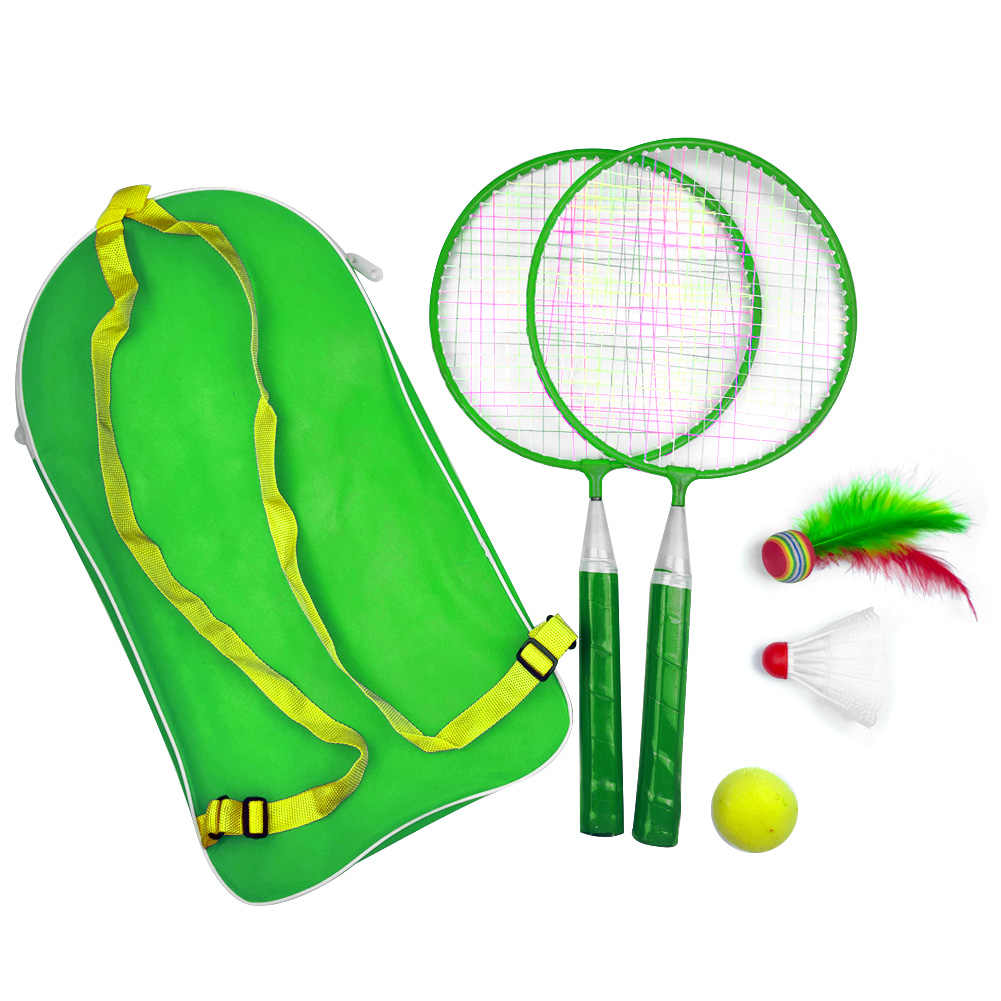 1 Set Outdoor Games With Shuttlecock Child Sport Educational Badminton Tennis Set Kid Baby Badminton Racket With Backpack