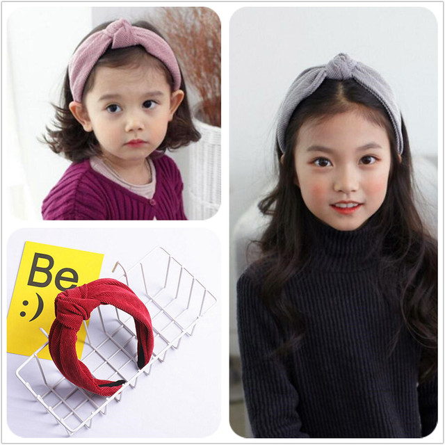 6 colors Winter fall velvet hair bow knot hairbands kids teens hair band  headband good size for girl woman hair accessories 867008a8133