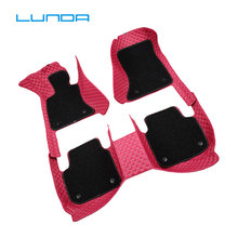 PU leather Car floor mats for Tesla Model X S  Fit Alfa Romeo Stelvio Giulia carpet car-styling Left -hand drive