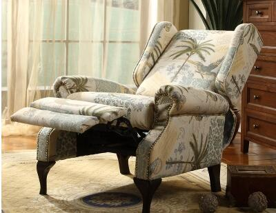 American Rustic Style Single Sofa. European Bedroom Casual Chaise Longest  Chair. Living Room Sofa