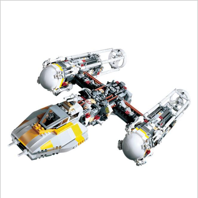 LEPIN 05040 1473Pcs Star - Y- War Attack wing Starfighter Model Building Kits Blocks Bricks Boy Toys Compatible LepinINGLY 10134 lepin 05040 star series war the y set wing attack star model fighter building blocks assembled bricks toys compatible with 10134
