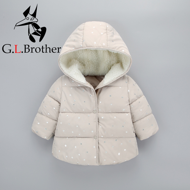 New Arrival 1-5 Years Kids Boys Winter Coat Down Cotton Padded Warm Children Outwear Star Printed Hooded Toddler Girl Parkas Z70 winter jacket men warm coat mens casual hooded cotton jackets brand new handsome outwear padded parka plus size xxxl y1105 142f