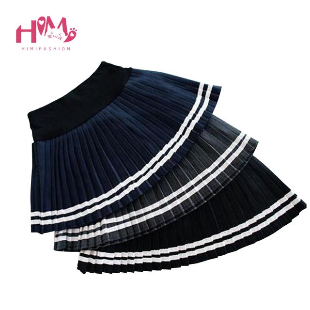 Estilo Harajuku Mujeres Colegio Breve Falda Plisada Negro Falda Para Las Niñas de Invierno Más Calientes de Marinero del Todo-Fósforo de La Falda Falda de Los Desplazamientos