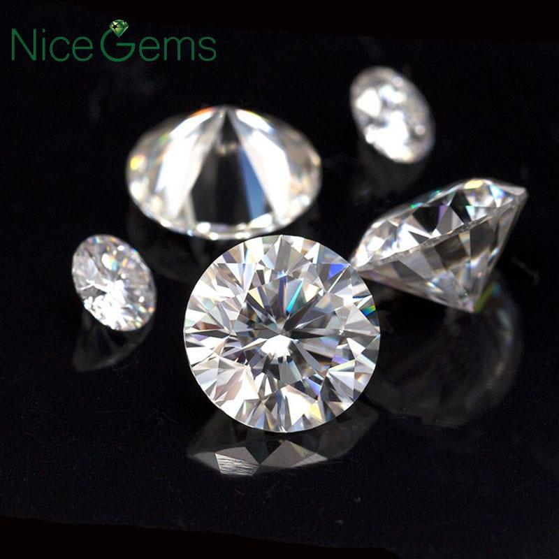 Moissanite Loose Grown Gemstone-Lab Diamond Colorless Hearts Nicegems 3mm Arrows Roud