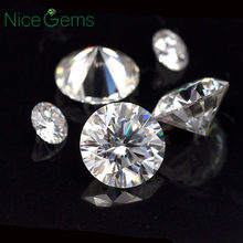 Nicegems Moissanite 3 Mm 0.1ct Karat D Tidak Berwarna Bulat Brilian Hati dan Panah Cut Lab Tumbuh Berlian Batu VVS1(China)