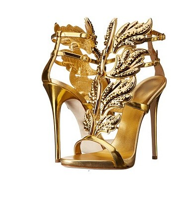 ФОТО Newest 2016 Hot Selling Gold Silver Coline Cruel Embellished Wing High Heel Sandals Brand Gilded Cage Sandals Women Size 34-42