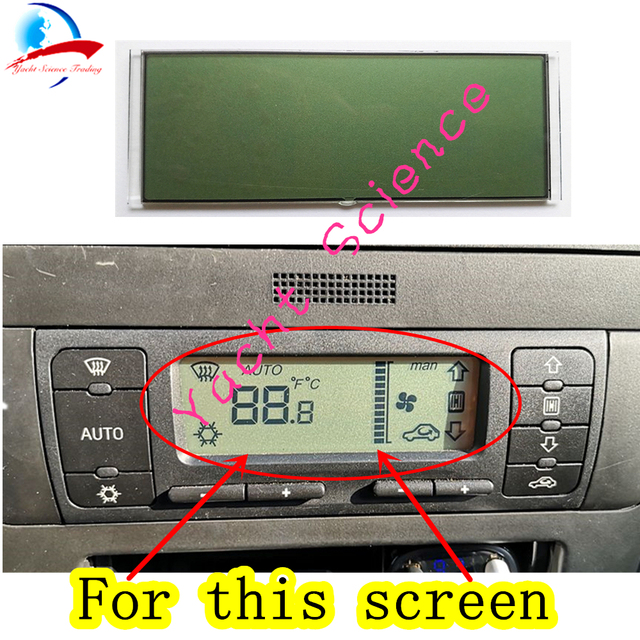 Car ACC Unit LCD Display Climate Control Monitor Pixel Repair Air Conditioning Information Screen For Seat Leon/Toledo/Cordoba