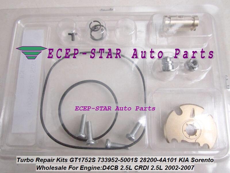Free Ship Turbo Repair Kit rebuild kits GT1752S 733952-5001S 733952-0001 28200-4A101 733952 For KIA SORENTO 02-07 D4CB 2.5L CRDI