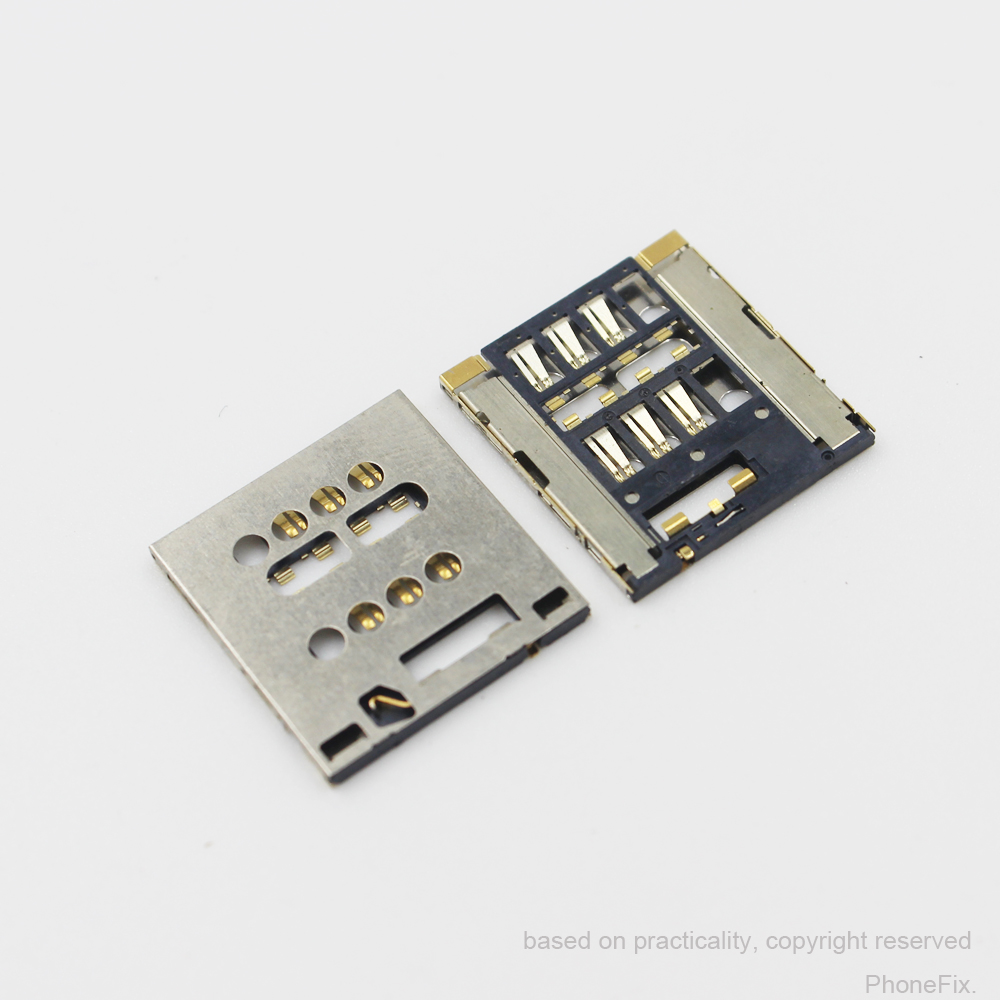 10pcs/lot Original and new sim card reader Sim reader holder for Sony for Xperia S LT28 LT28I LT26W slot tray module