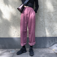 3 Colors Mihoshop Ulzzang Korean Korea Women Fashion Clothing High Waist Pink Corduroy Loose Wide Leg Trousers Pants