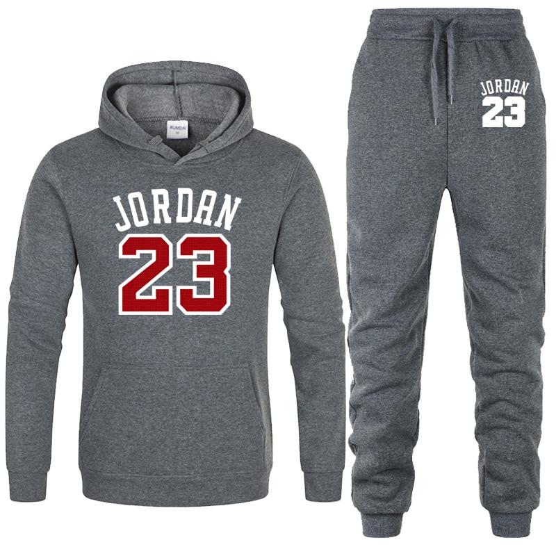 2019 Männer Sportswear Jordan 23 Hoodies Set Frühling Anzug Kleidung Trainingsanzüge Männlichen Sweatshirts + Hosen Männer Anzüge Jogger Plus Größe Xxl Schrumpffrei