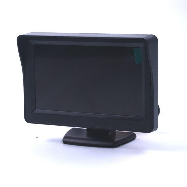Venta caliente 4.3 pulgadas TFT LCD coche Monitores marcha atrás Monitores con retroiluminación LED para visión trasera cámara DVD