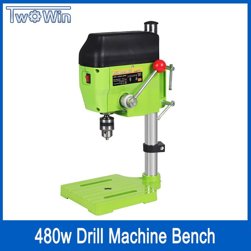 Mini Drill Press Bench Small Drill Machine drilling Work Bench speed adjustable EU plug 480W 220V