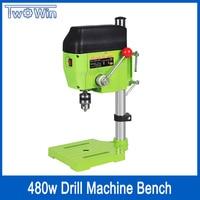Mini Drill Press Bench Small Drill Machine drilling Work Bench speed adjustable EU plug 480W 220V BG 5166A