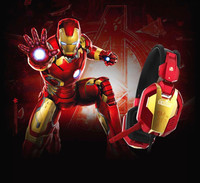 E 3LUE the Avenger Iron Man Game headset H928 Gold noise reduction wired USB pro gaming Headphone for PC