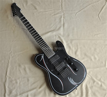 factory custom black matte Tele 7-string electric guitars free shipping can be customized upon request manufacturers wholesale all kinds of best lp guitars can be customized ems free shipping