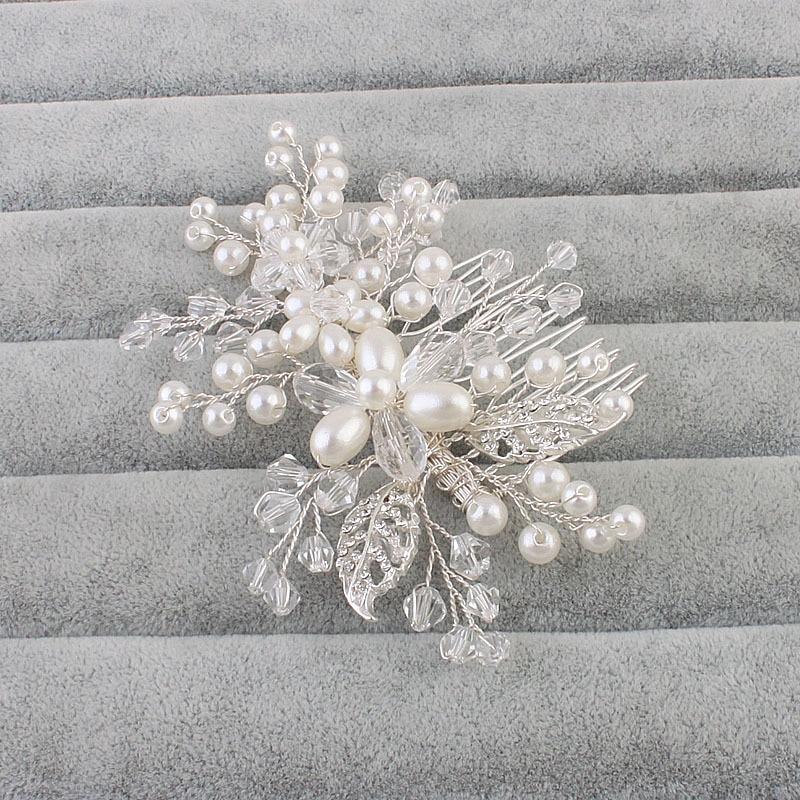 Women Wedding Hair Jewelry Rhinestone Hair Combs bijoux de tete Bride Crystal Tiara Bridal Hair Accessories