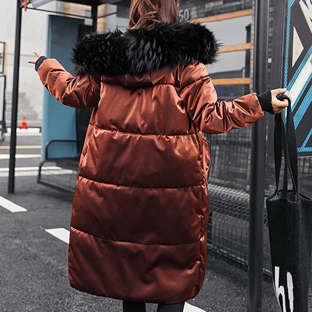 Mince Femmes Noir kaki Zip Manteau Parkas De Pardessus Capuchon À Bureau Hiver Long Casaco Veste Casual Fourrure Belle Femme Paquet 8AS5Unwq