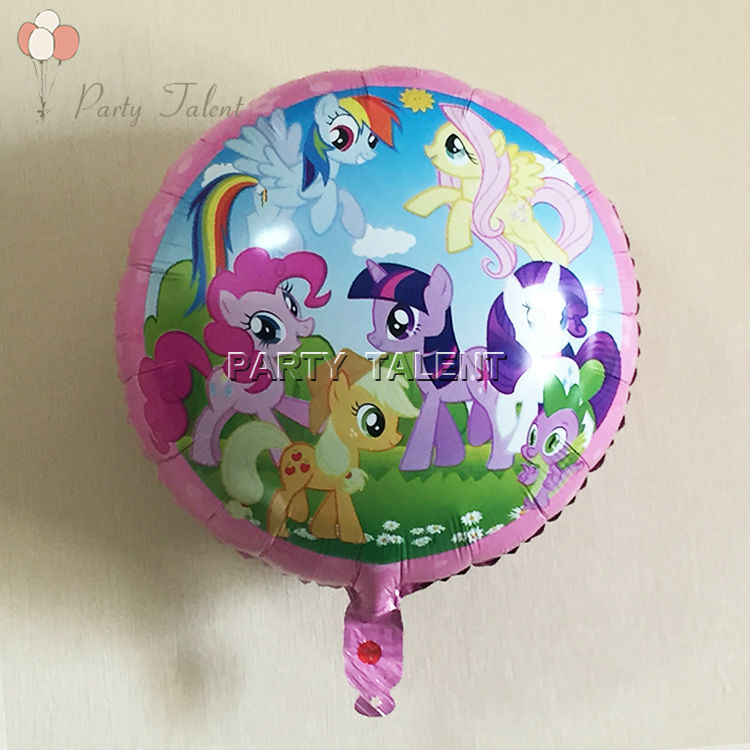 10pcs My Little Pony theme birthday party kids party 18 inch aluminium foil ball