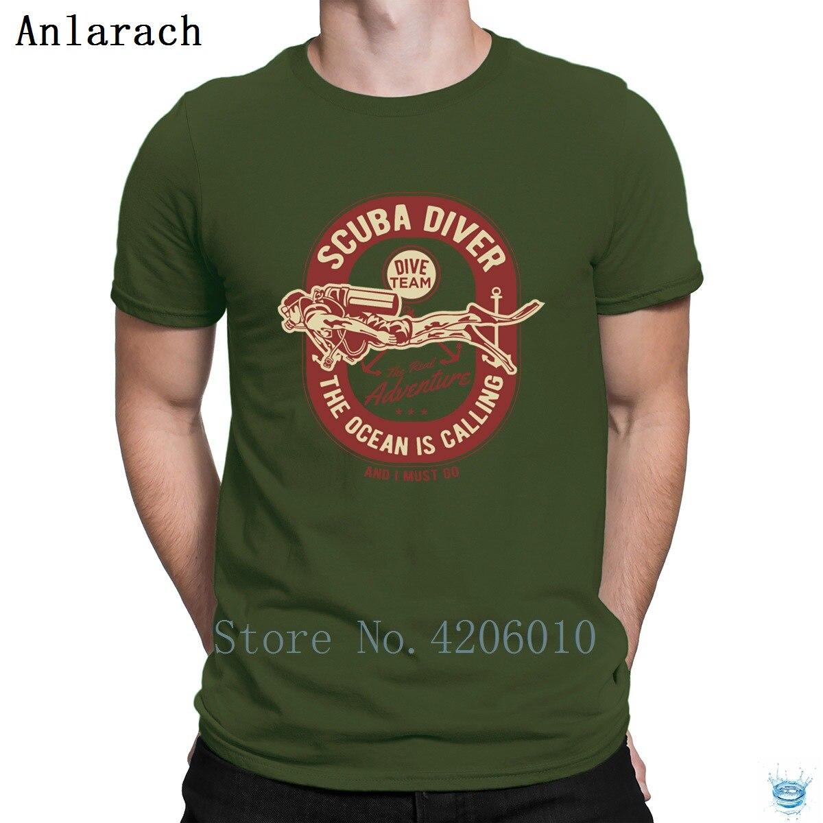 Scuba Diver Divings Dives Ocean T-Shirts Spring Homme Cheap Design T Shirt For Men Quirky Cotton Fashion Letters