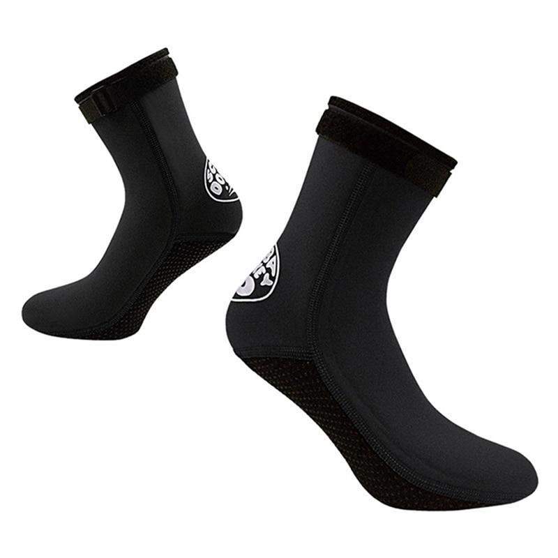 1Pair 3mm Neoprene Men Women Unisex Diving Socks Beach Socks Water Shoes Diving Surfing Boots Warm Sunscreen