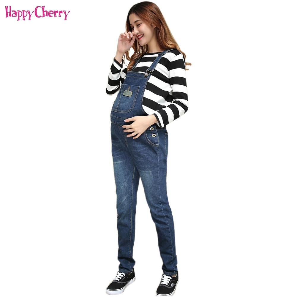 Calças de brim para mulheres grávidas bib calças novas 4xl roupas de maternidade inverno calças de brim quentes roupas de maternidade